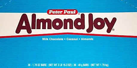 Almond Joy Candy Bar 36ct Box