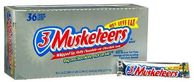 3 Musketeers Chocolate Candy Bars - 36 bars
