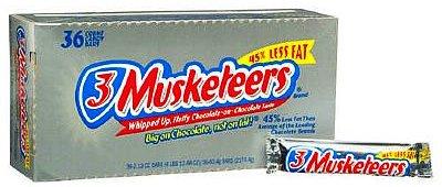 3 Musketeers 3 Musketeers 3 Musketeers Chocolate Candy Bars - 36 bars - 36 bars - 36 bars