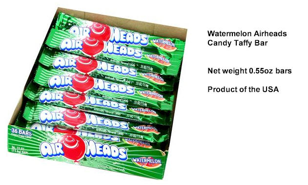 Airheads Watermelon Candy Taffy 36ct