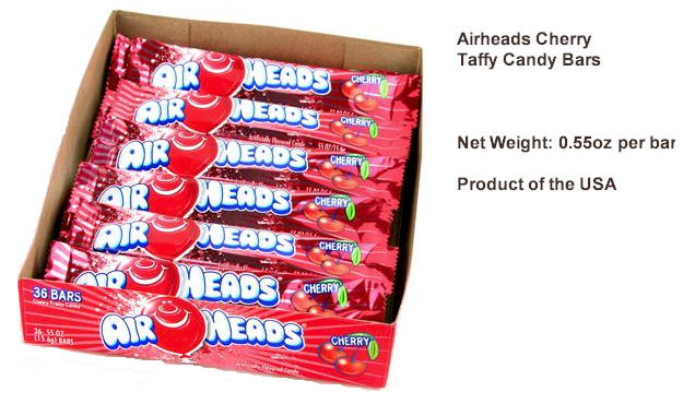 Airheads Cherry Candy Taffy 36ct