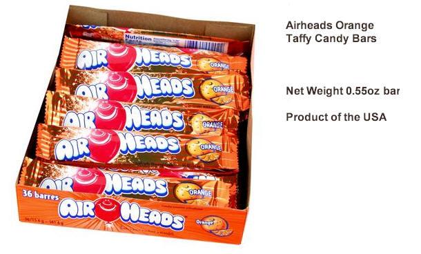 Airheads Orange Candy Taffy 36ct