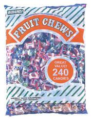 Assorted Fruit Chews 240ct Bag