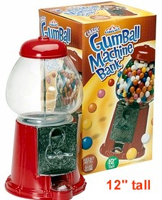 "Junior Carousel Gumball Dispenser 12"" tall"