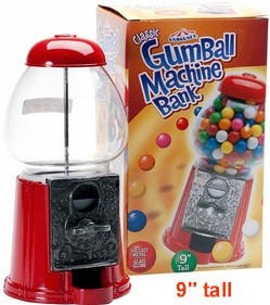 "Petite Carousel Gumball Dispenser 9"" tall"