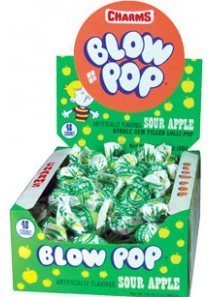 Charms Sour Apple Blow Pops 48ct