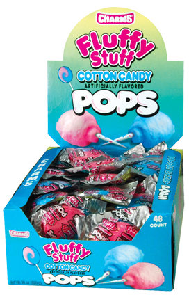 Charms Cotton Candy Pops 48ct