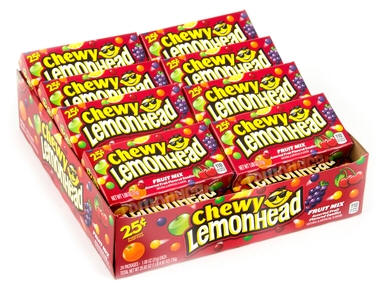 Chewy Lemonheads Candy 24ct - Ferrara Pan Candy