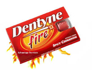 Dentyne Fire® picy cinnamon, breath-freshening, sugarless gum 12ct