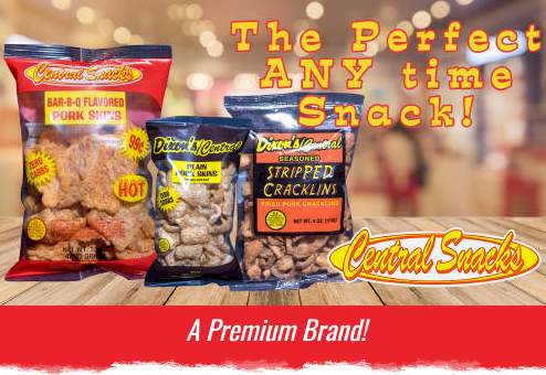 Central Snacks Pork Skins Rinds