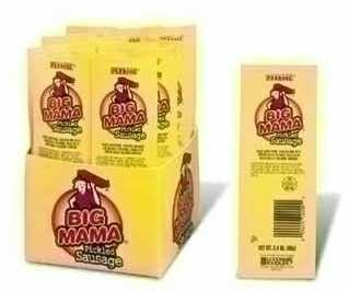 Big Mama Pickled Sausage 12ct box individually wrapped