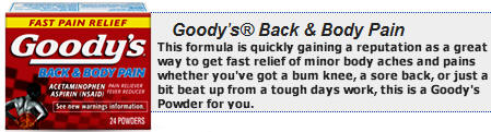 Goody's Back & Body Pain Powders 12-6ct