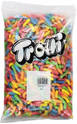 Trolli Neon Sour Gummi Worms 5 lb Bag