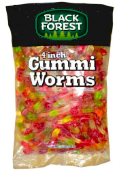 Black Forest Gummi Worms 5 lb Bag