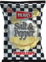Herr's Salt & Pepper Potato Chips 1oz bags