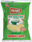 Herr's Sour Cream and Onion Potato Chips 1oz