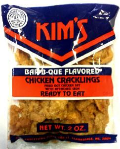 Kim'sBBQ Chicken Cracklin 2oz bags