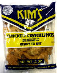 Kim's Hot & Spicy Chicken Cracklin 12-2oz bags
