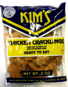 Kim's Regular Chicken Cracklin 2oz bags