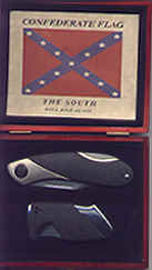 Confederate Knife & Lighter Collector Set in Wood Box