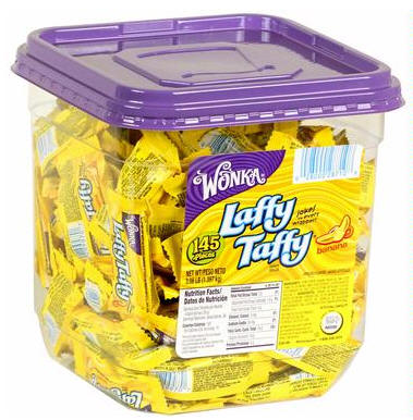 Laffy Taffy Banana Candy Tub Jar 145ct
