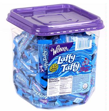 Laffy Taffy Blue Raspberry Candy Tub Jar 145ct