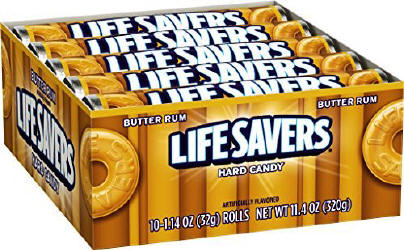 Life Savers Butter Rum Candy Rolls 20ct