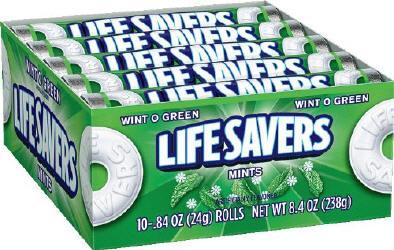 Life Savers Wint O Green Candy Rolls 20ct - Life Savers Wint O Green 41oz Bag