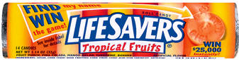 Life Savers Tropicals Candy Rolls 20ct