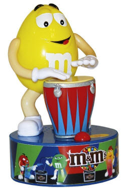 M & M Bongo Drummer Rock Star Dispenser