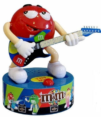 M & M Guitar Rock Star Candy Dispensers