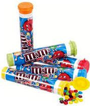 M & M Mini Candy - 24 tubes per display box