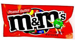 M & M Peanut Butter - 24 bags per display box