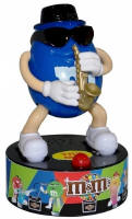 M & M Saxaphone Rock Stars Dispenser