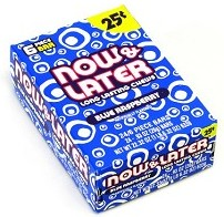 Now and Later Blue Raspberry Candy Taffy box 24ct