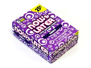 Now and Later Grape Candy Taffy box 24ct
