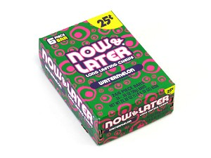 Now and Later Watermelon Candy Taffy box 24ct
