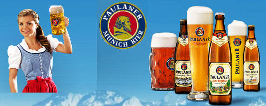 Paulaner German Beer Stein - Paulaner German Beer Glass 14oz