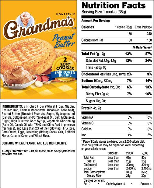 Grandma's Homestyle Peanut Butter Cookies