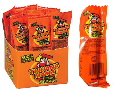 Tijuana Mama Hot Pickled Sausage 12ct