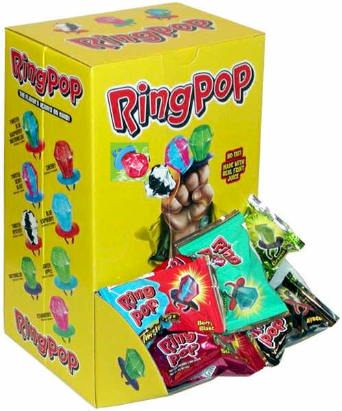 Ring Pops Assorted 40ct Tub