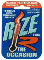 Rize2 - All natural sexual performance enhancer for men
