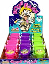 Sour Flush Candy 12ct Display box - Kidsmania Novelty Candy