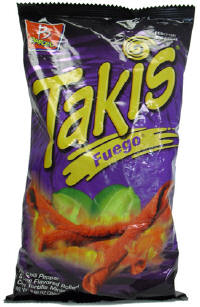 Takis Fuego Hot Chili Pepper & Lemon Flavored Rolled Corn Tortilla  2oz bag