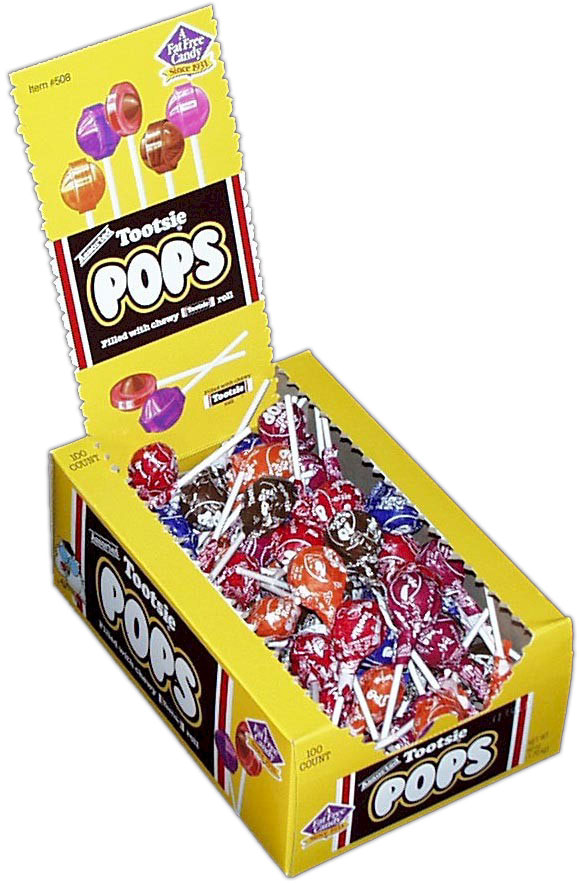 Tootsie Roll Pops Assorted Flavors 100ct Candy
