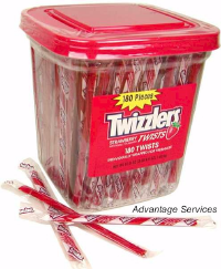 Twizzlers Strawberry Licorice Tub Candy 180ct