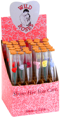 Wild Rose Glass Tubes with Removable ends