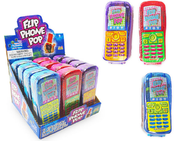 Kidsmania Flip Phone Pop Candy Displays 12ct
